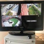 CCTV Camera Footage on TV