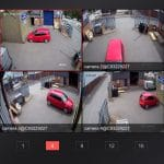 4 CCTV Cameras of Parked Car