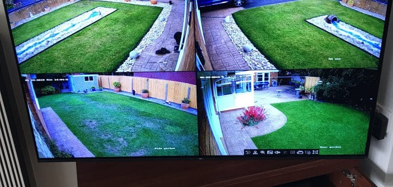 CCTV Footage of Back and Front Garden